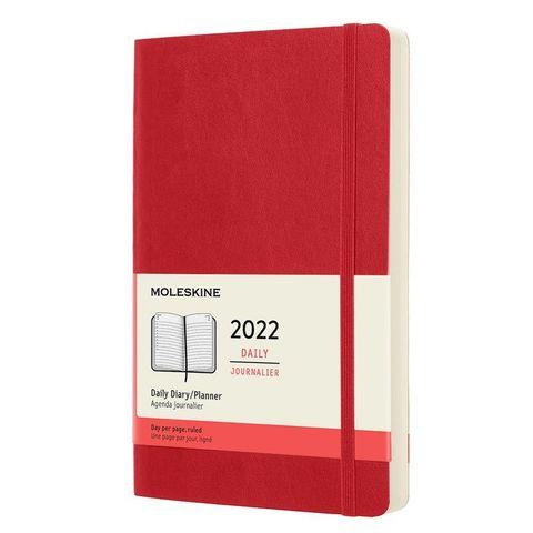 Ежедневник Moleskine (DSF212DC3) Classic Soft Large 130х210мм 400стр. мягкая обложка красный