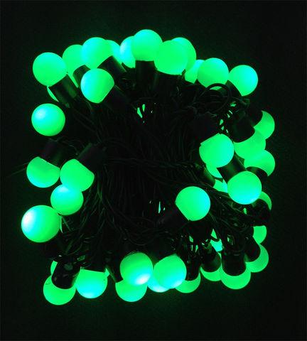 Гирлянда шарики LED зеленая