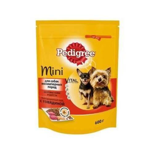 """Корм для собак мини пород """"Pedigree"""" С говядиной 600г"""