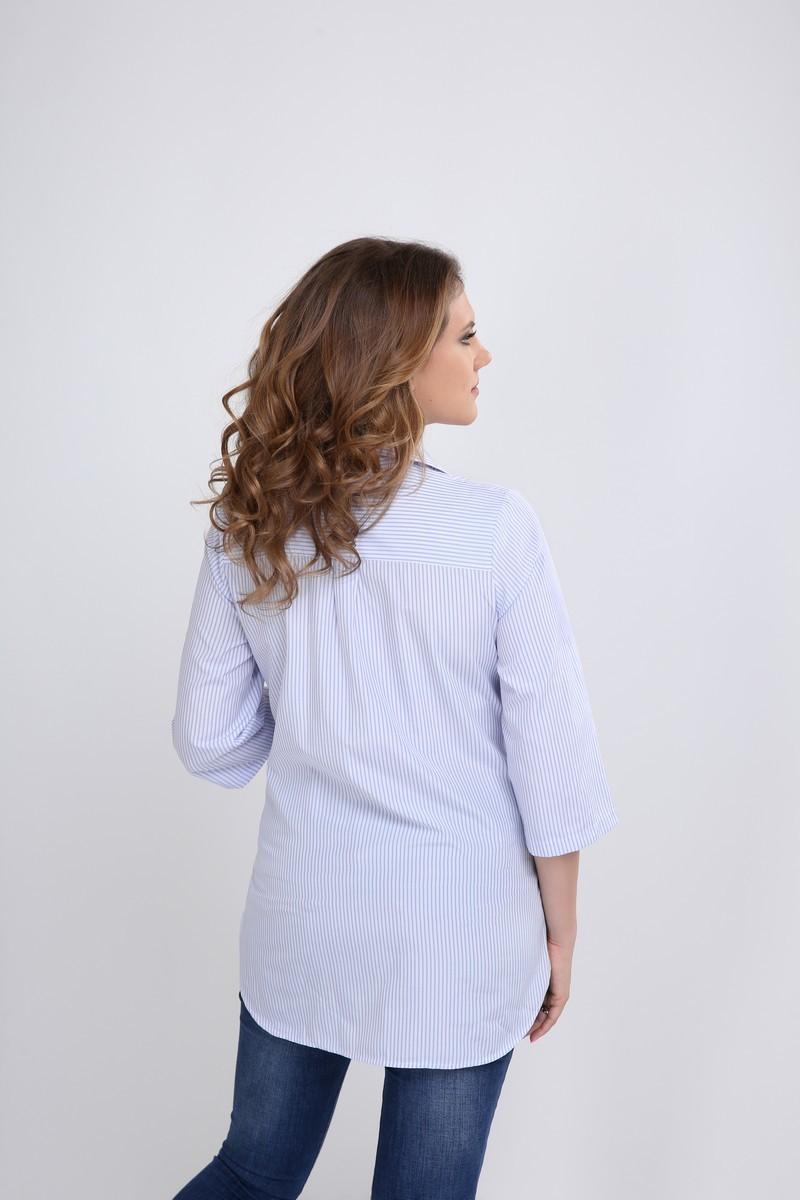 Блузка для беременных 09560 голубой