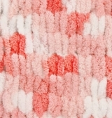 Пряжа Alize Puffy Color коралловый принт 5922