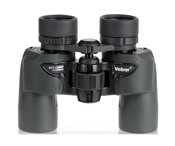 Бинокль Veber ED 7x30 WP green - оптическая схема Porro