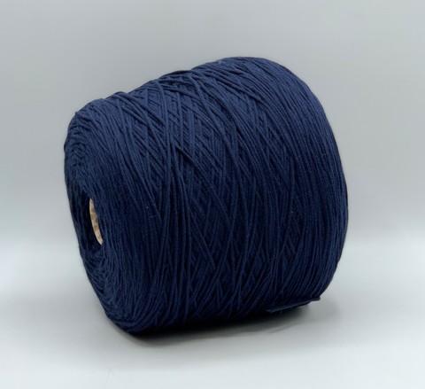 Бобинная пряжа Brunello Cucinelli (пр.Италия), art-Park 230м/100гр.76%хлопок 24%ПА, цвет-Синий, арт.6833