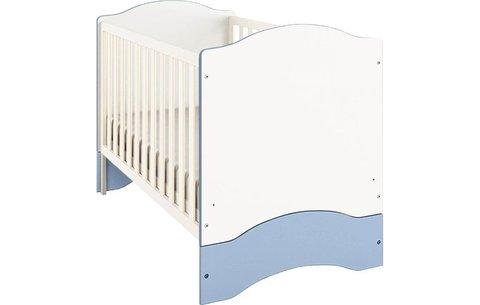 Кроватка детская Polini kids Simple 140х70 белый-синий