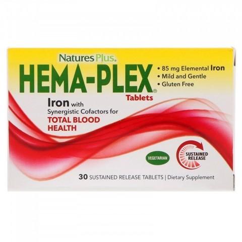 Hema-Plex, 30 таблеток с длительным высвобождением Nature's Plus