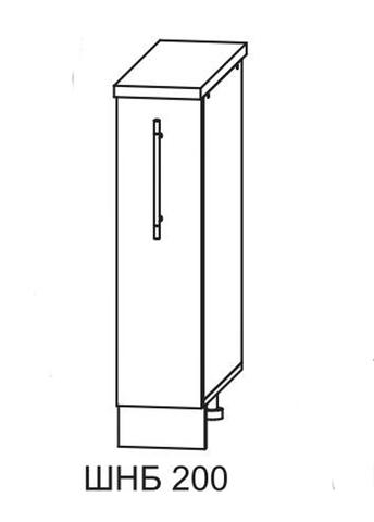 Кухня Империя СБ 200 Шкаф нижний бутылочница