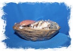 Набор ракушек в плетеной корзинке
