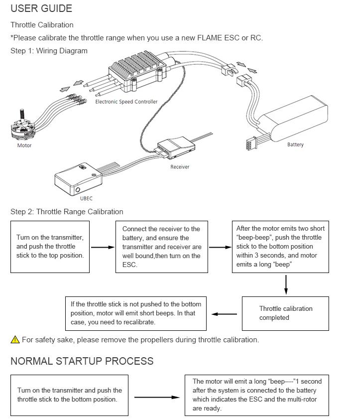 Схема подключения ESC регулятора T-Motor 60A Flame