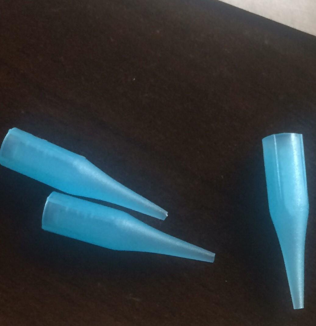 Дюза (носик) голубой россыпь на иглы 1R (50шт)