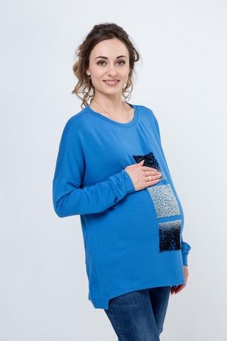 Джемпер для беременных 09136 синий