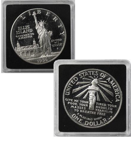 1 доллар. 100 лет Статуе Свободы. (S). США. Серебро. 1986 год. Proof