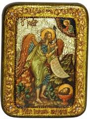 Инкрустированная икона Пророк и Креститель Иоанн Предтеча 20х15см на натуральном дереве в подарочной коробке