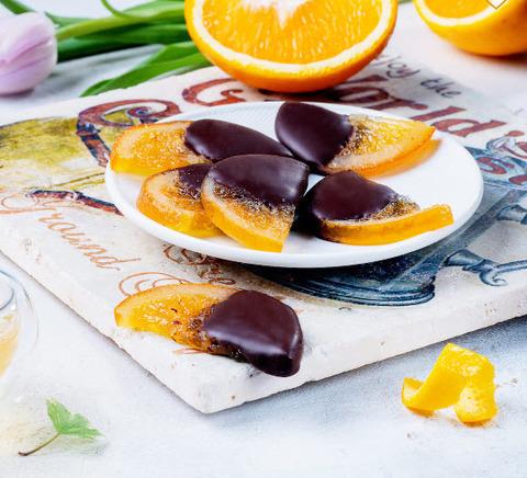 Апельсиновые дольки наполовину в темном шоколаде, ФРЕНЧКИСС, 100г