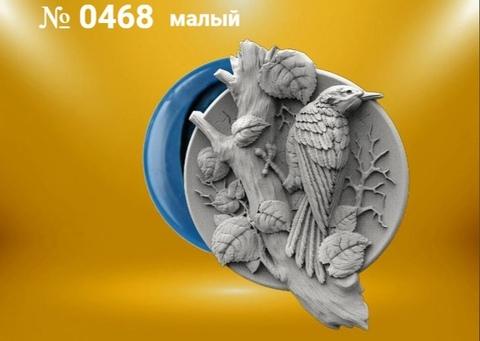 Силиконовый молд  Дятел  (медальон)  № 0468 -м