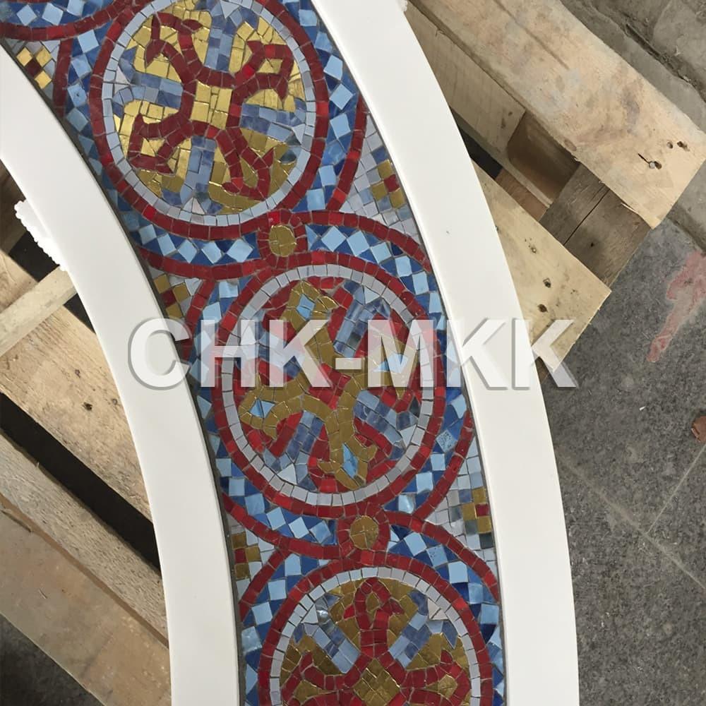 Резной мраморный Киот №2. Элемент мозаики.