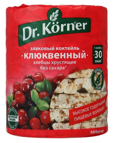 """Хлебцы """"Dr. Korner"""" злаковый коктейль с клюквой 100 г"""