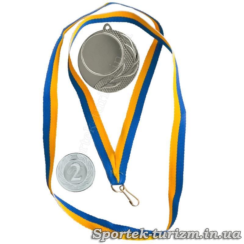 Серебряная медаль за 2 место, ленточка и вставка