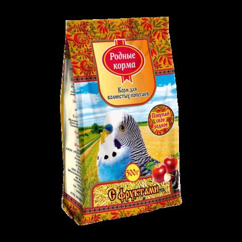 Родные корма Сухой корм для волнистых попугаев с фруктами
