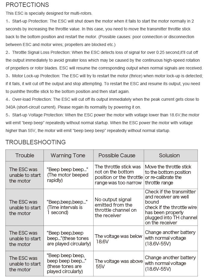 Инструкция по настройке ESC регулятора T-Motor 60A Flame