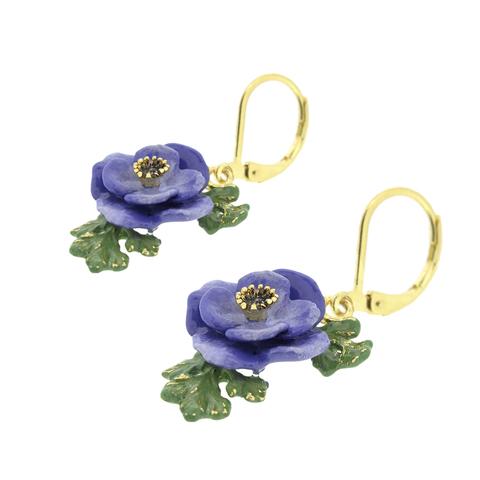 Серьги Анемоны (голубые)