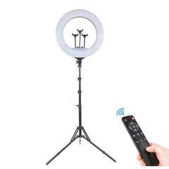Кольцевая лампа на штативе с пультом управления (диаметр 45 см)