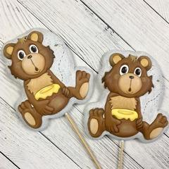 Мишка №13 с медом и пчелой