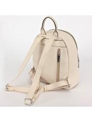 Рюкзак бежевый с декоративной молнией