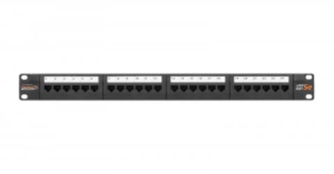 Патч-панель NIKOMAX NMC-RP24UD2-1U-BK