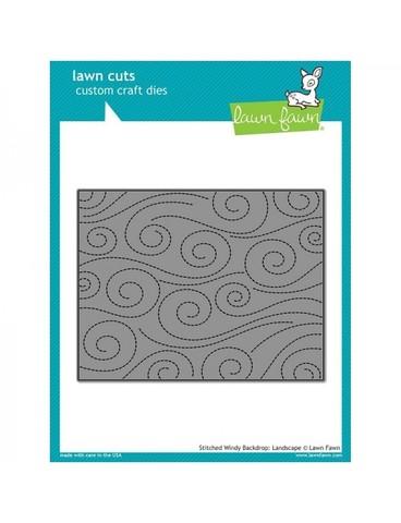 Нож  для вырубки 11х14см -Lawn Fawn Background Craft Die- Stitched Windy