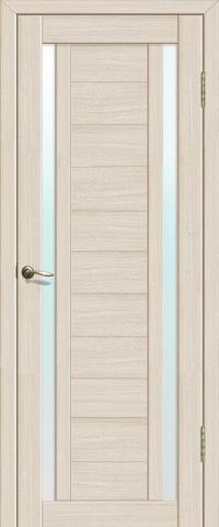 Дверь La Stella 203, стекло матовое, цвет ясень латте, остекленная
