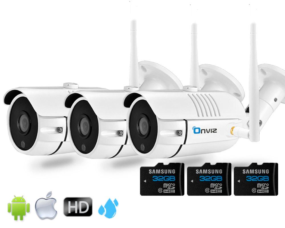 Видеонаблюдение Комплект из 3-х Уличных Wi-Fi  камер глав3.jpg