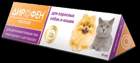 Дирофен паста 60 для кошек и собак