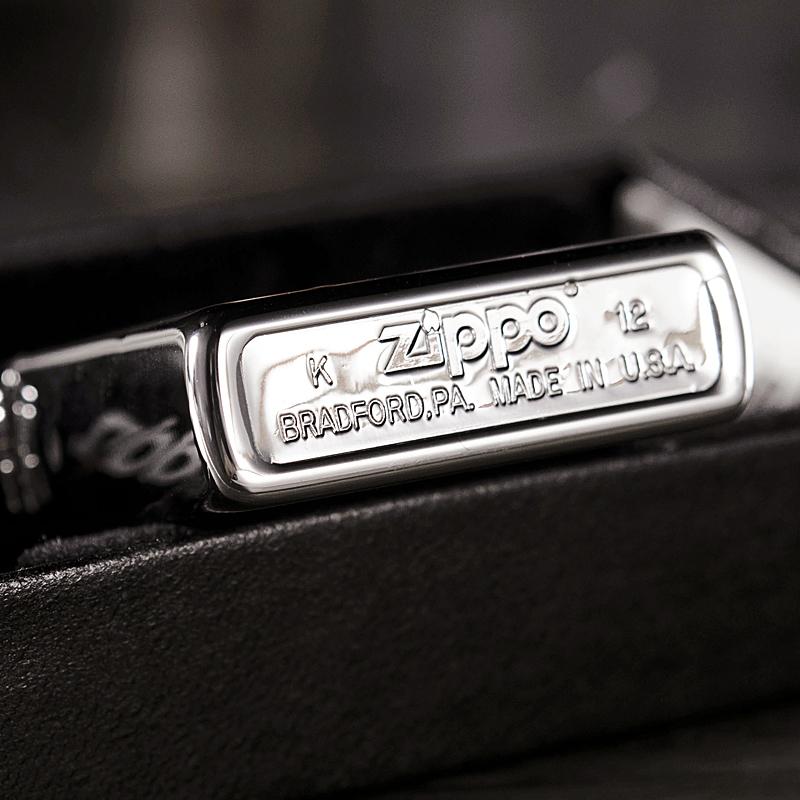 Зажигалка Zippo с покрытием High Polish Chrome, латунь/сталь, серебристая, глянцевая, 36х12х56