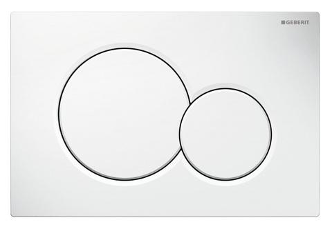 Geberit Sigma 01 115.770.11.5 кнопка для инсталляции унитаза (двойной смыв, белый пластик)
