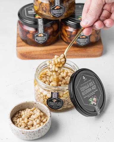 Кедровый орех в акациевом меду, 250 г