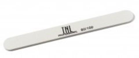 Пилка для ногтей узкая 100/100 улучшенная (белая) в индивидуальной упаковке