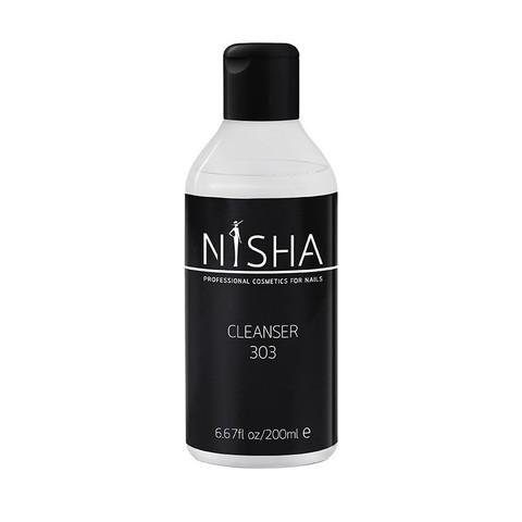 Жидкость для снятия липкого слоя и обезжиривания Cleanser Nisha 200ml 303