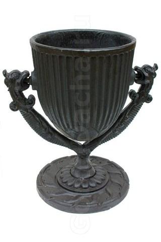 Урна чугунная литая ГРИФОН черная