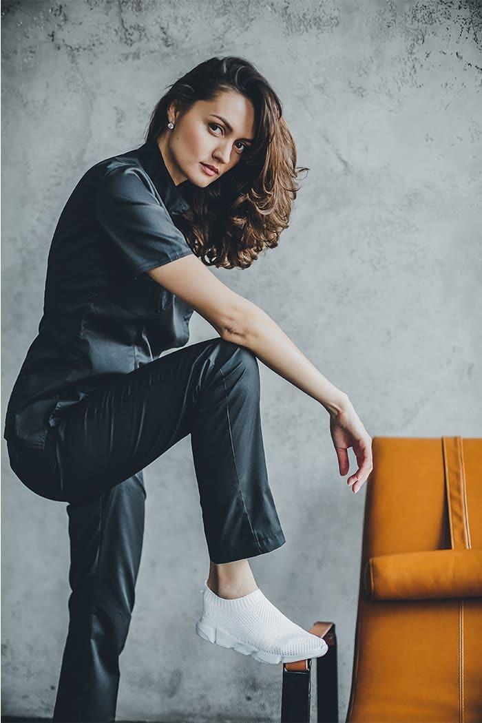 Блуза женская медицинская М 212 черный55