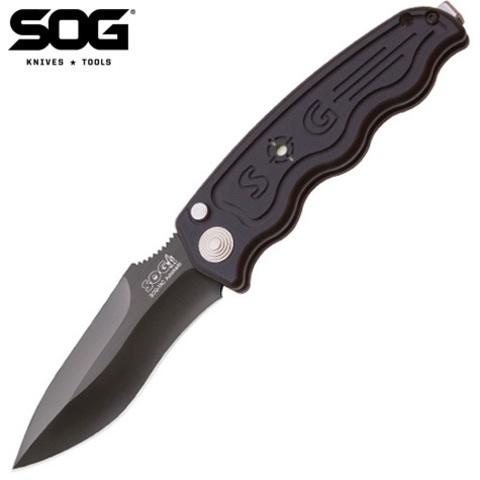 Нож SOG модель ST-06 Tactical Drop Point Black TiNi