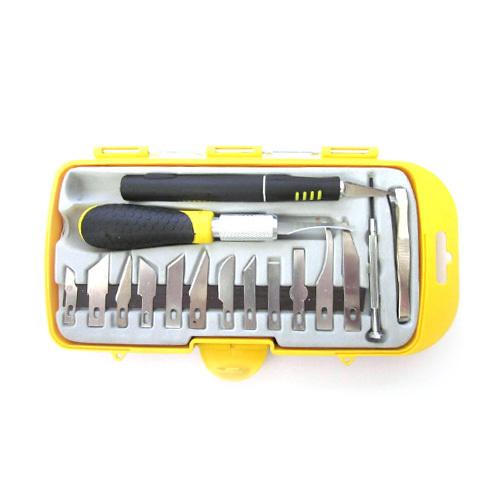 Ножи и коврики Набор ножей с цанговым зажимом (алюминий) №2, 16 предметов 2.jpg
