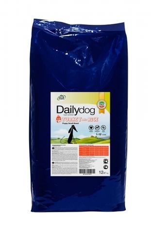 Сухой корм DailyDog Puppy Small Breed Turkey and Rice для щенков мелких и миниатюрных пород с индейкой и рисом 12 кг