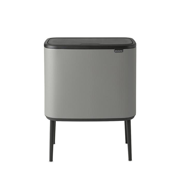 Мусорный бак Touch Bin Bo (11 л + 23 л), Минерально-серый, арт. 127243 - фото 1