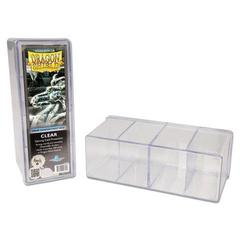 DS Deckboxes: 4-Compartment Clear
