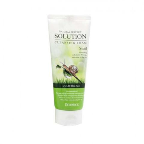 Deoproce Natural Perfect Solution Cleansing Foam Snail пенка для умывания с экстрактом улиточной слизи