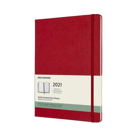 Еженедельник Moleskine CLASSIC WKNT XL 190х250мм датир.12мес 144стр. красный