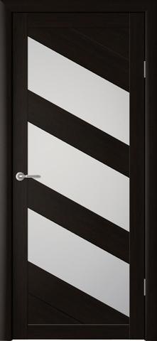 Дверь ALBERO Сингапур-3 (кипарис тёмный, остекленная экошпон), фабрика Фрегат