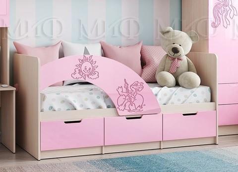 Кровать Юниор-3 розовая