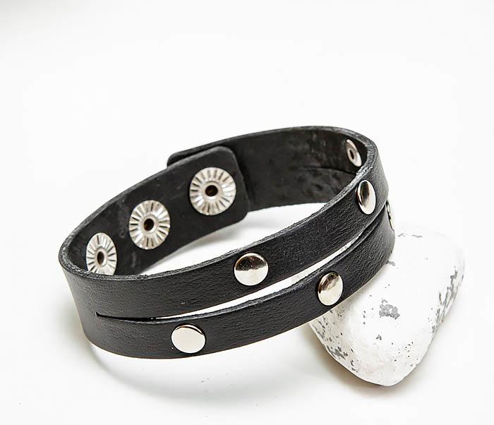 BL794-1 Мужской кожаный браслет с заклепками фото 05