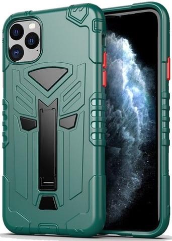 Чехол для iPhone 11 Pro Max серии Dual X с магнитом и складной подставкой, зеленого цвета от Caseport